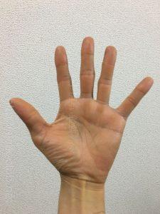 40代男性の手のひら画像左手