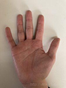 30代男性手のひら画像右手