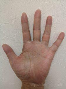 40代男性手のひら画像左手