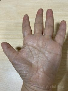 50代女性の手のひら画像左手