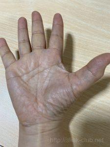 50代女性の手のひら画像右手