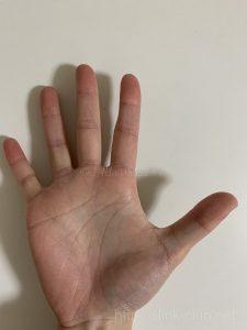 20代女性手の手のひら画像右手