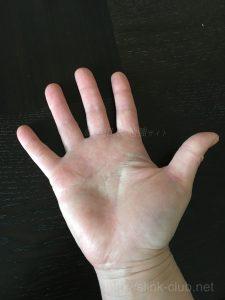 30代女性の手のひら画像右手