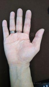 30代男性の手のひら画像右手