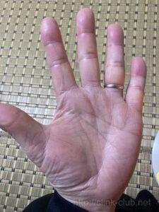 60代男性の手相画像左手