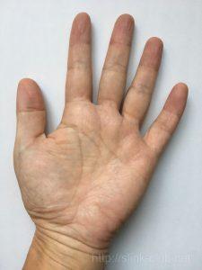 60代男性の手のひら画像左手