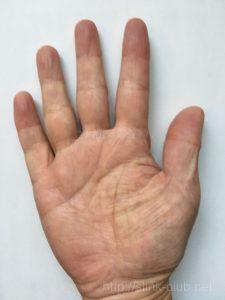 60代男性の手のひら画像右手