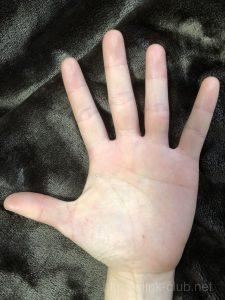 20代女性の手のひら画像左手