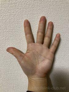 30代男性の手のひら画像左手