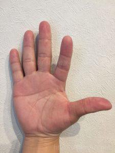 30代男性の手相画像左手