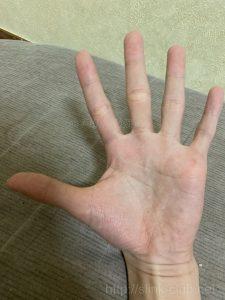 20代男性手のひら画像左手