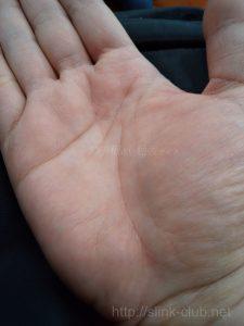 40代女性の手のひら画像右手