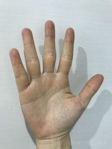 20代女性の手のひら画像右手