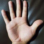 40代男性の手のひら画像右手用画像右手